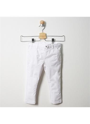 Panço Kız Bebek Pantolon 19121090100 Beyaz